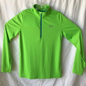 Under Armour Heat Gear Youth XL Lime Green Top